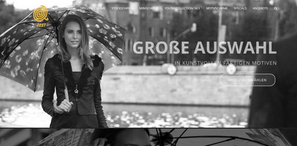 Online Shop von ZEST Regenschirme