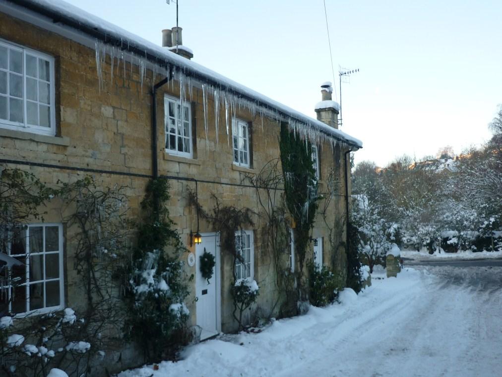 Schnee in den Cotwolds - UK