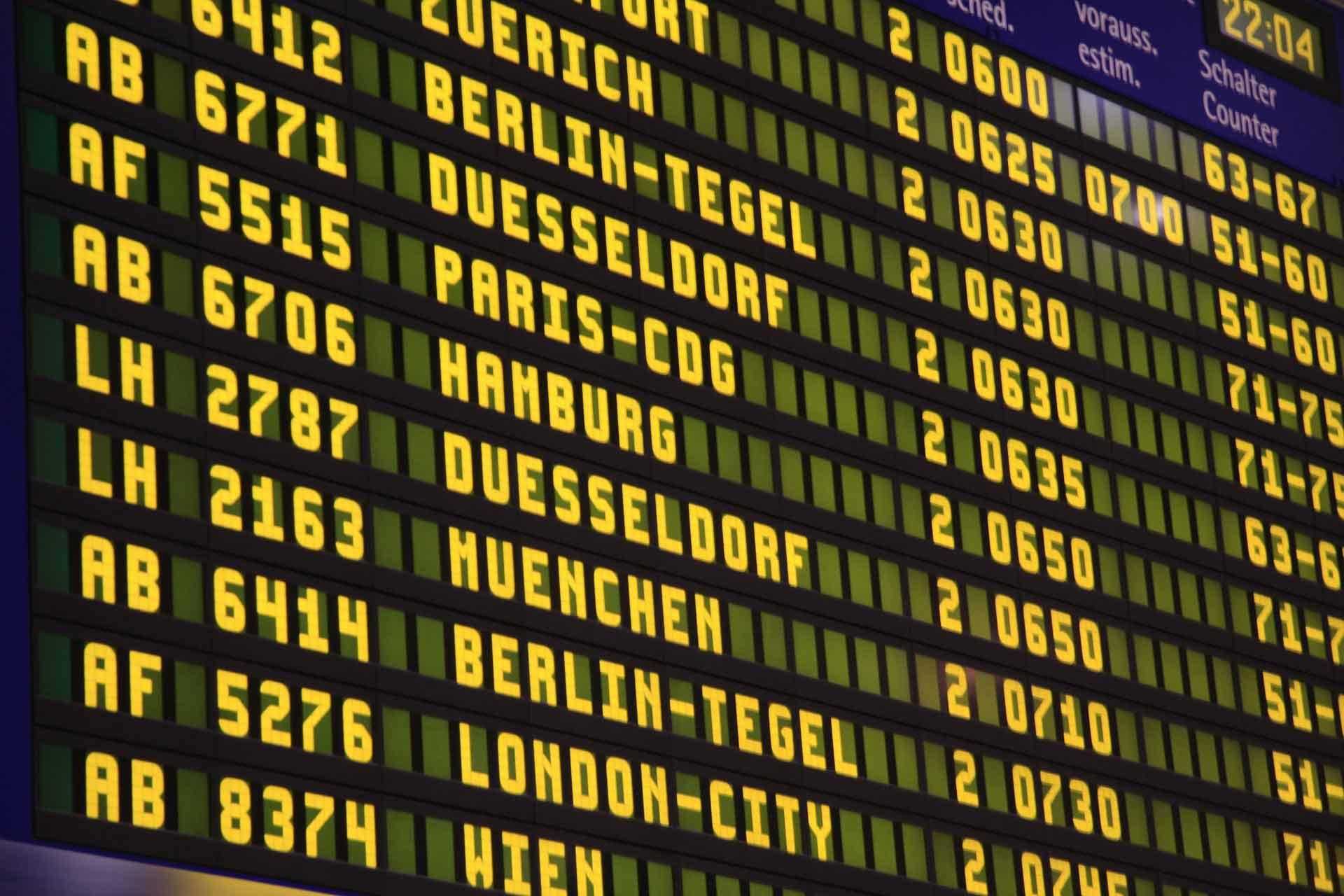 Warten auf den nächsten Flug – eine kleine Anekdote