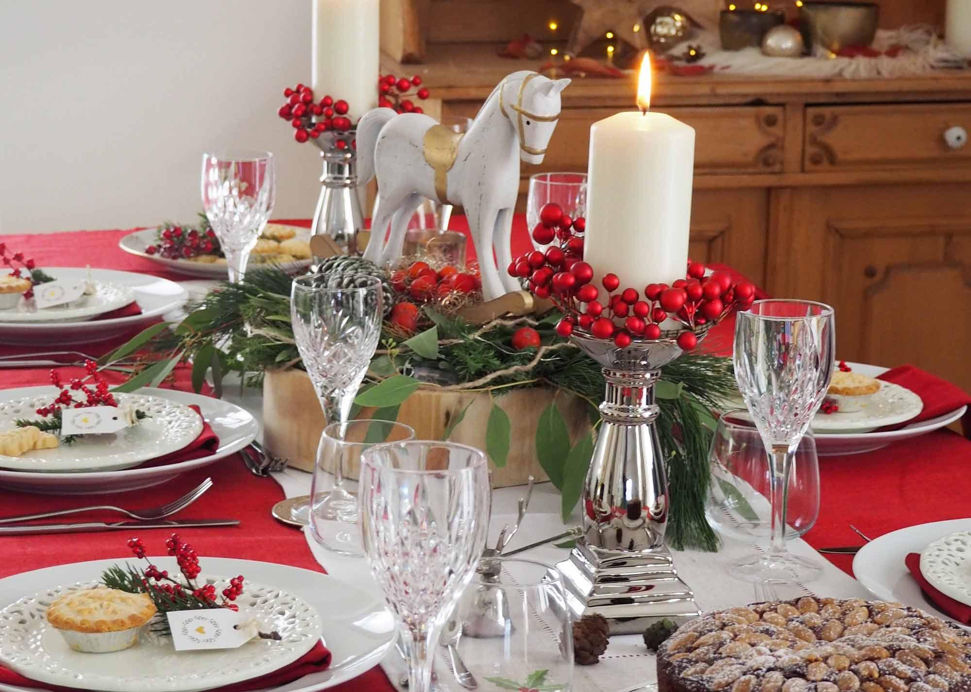 Britische Tischdekoration Fur Weihnachten