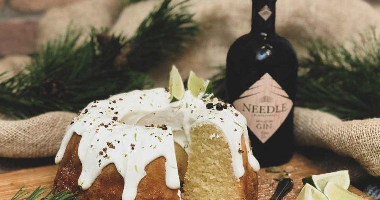 Rezept für einen Gin & Tonic Kuchen mit Needle Blackforest Gin